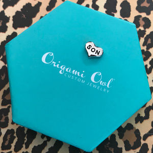 Origami Owl Jewelry - 5 for $19 Origami Owl Silver Son Heart Retired 1F